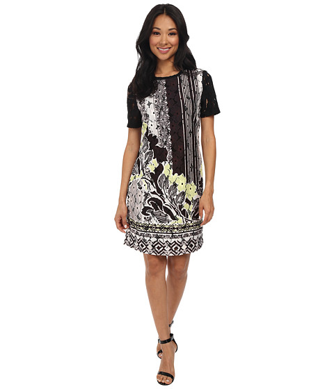 Hale Bob - Downtown Floral Lace Printed Dress (Lime) Women