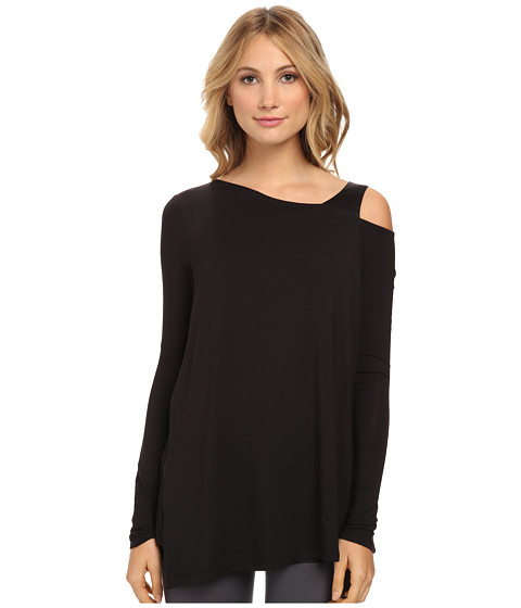 Lysse - Layla One Shoulder Top (Black/Satin) Women