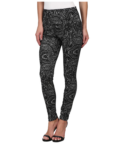 Lysse - Jacquard Leggings (Black/Silver) Women