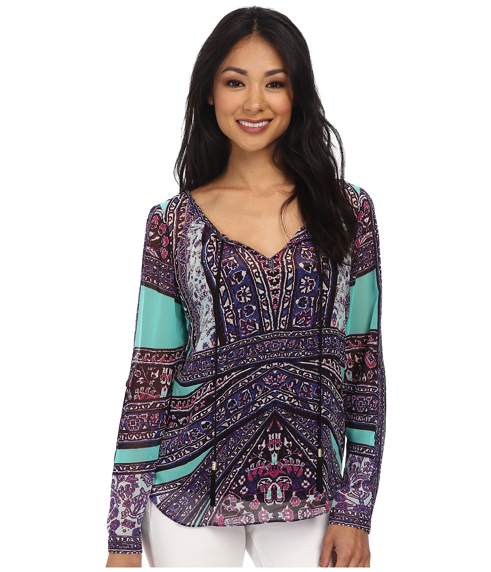 Hale Bob - Weekend Getaway L/S Blouse (Teal) Women