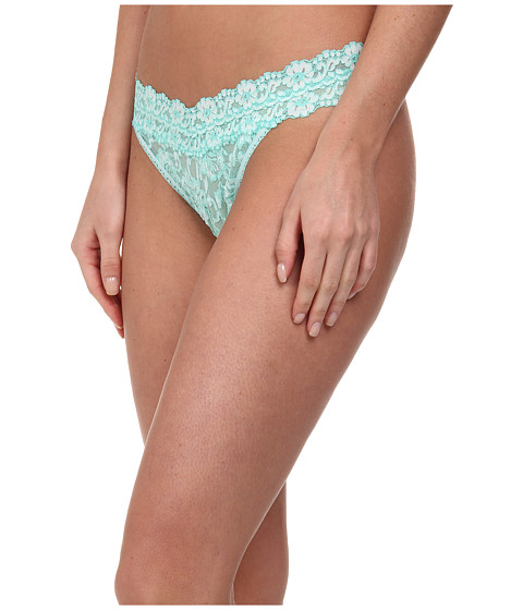 Hanky Panky - Cross-Dyed Signature Lace Original Rise Thong (Seaglass/White) Women's Underwear