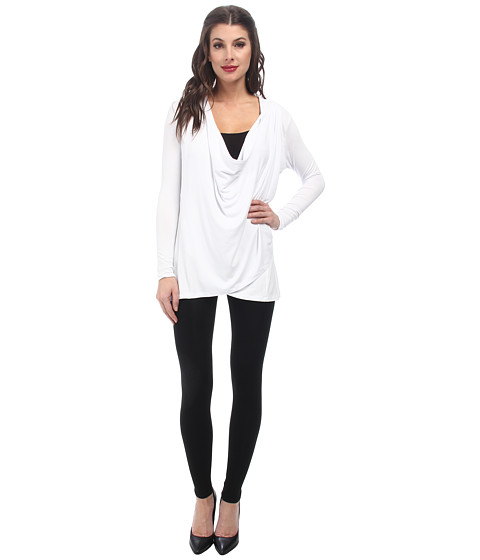 Lysse - Drape Wrap (White) Women's Sweater
