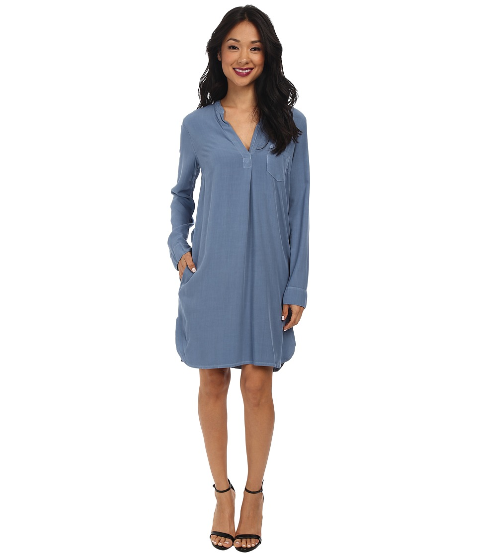 Splendid - Rayon Voile Shirtdress (Stonewash) Women's Dress