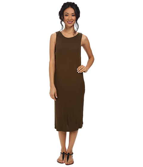 Splendid - 2X1 Ribbed Dress (Olive) Women's Dress