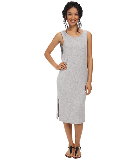 Splendid - 2X1 Ribbed Dress (Grey) Women's Dress