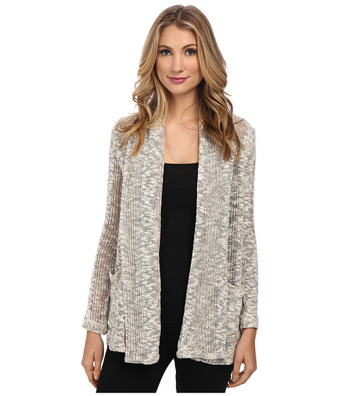 Splendid - Seaside Mesh Loose Knit Cardigan (Ash) Women