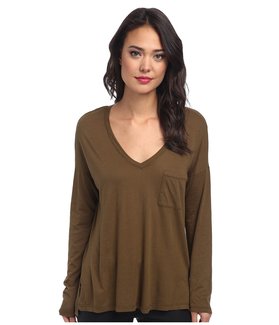 Splendid - Very Light Jersey Long Sleeve Tee (Olive) Women's T Shirt