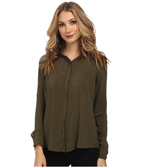 Splendid - Rayon Voile Shirting (Olive) Women