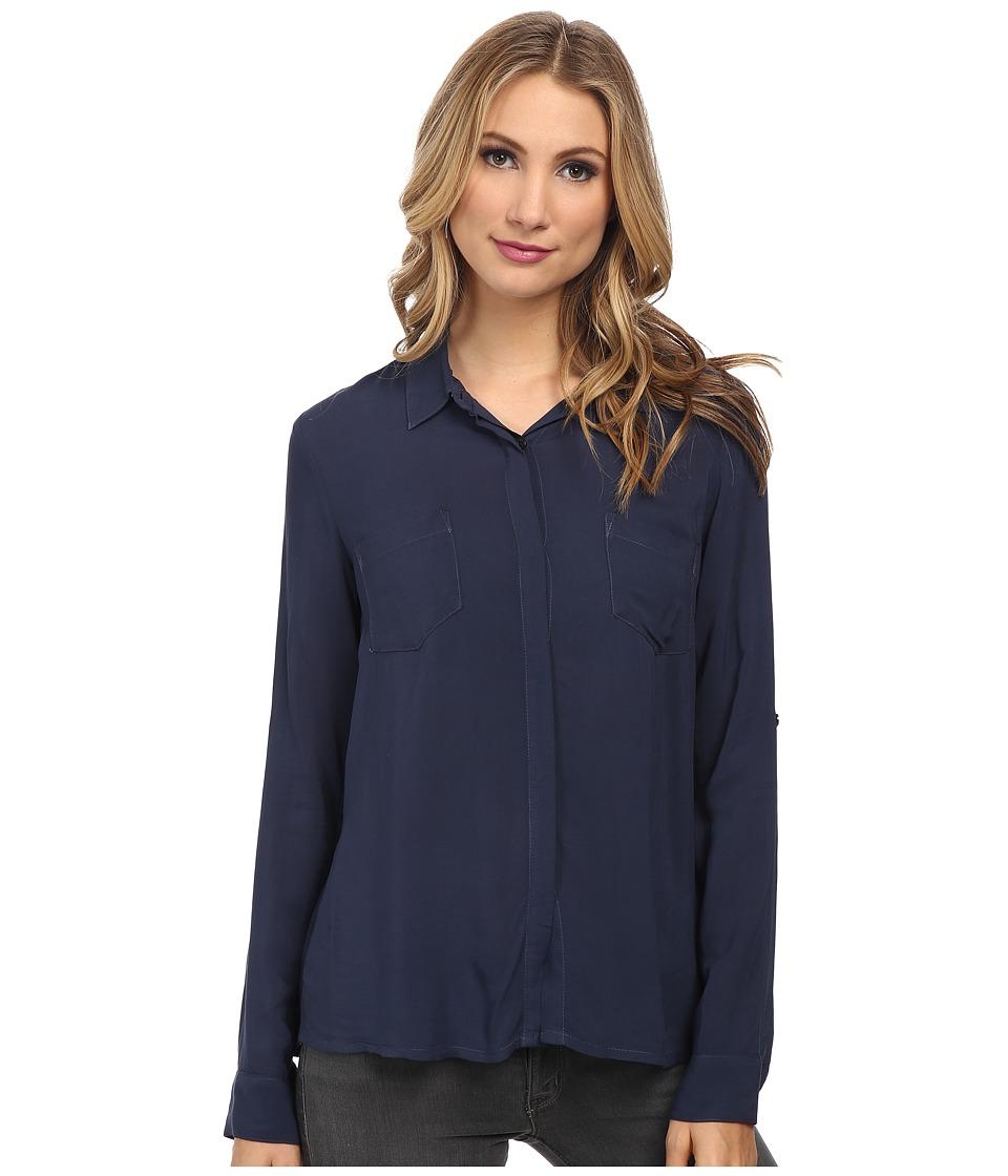 Splendid - Rayon Voile Shirting (Navy) Women's Clothing