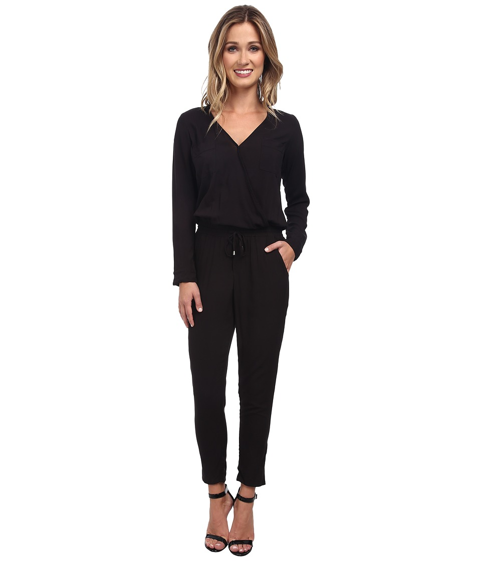 Splendid - Rayon Voile Jumpsuit (Black) Women