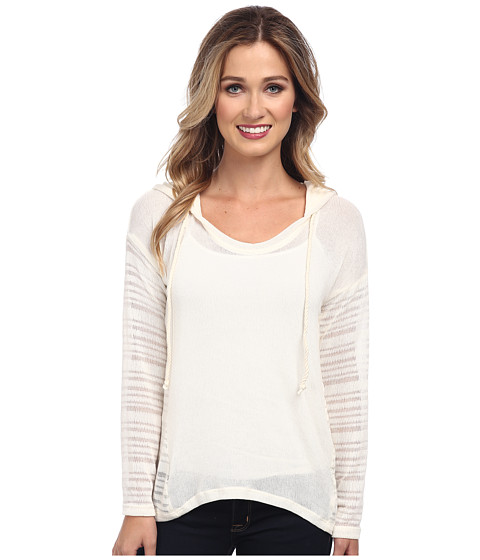 Splendid - South Cove Loose Knit Hooded Sweater (Cream) Women's Sweater