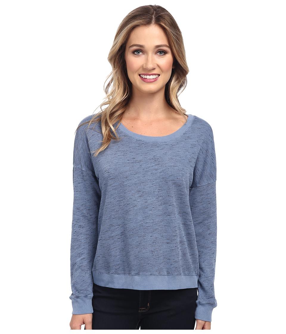 Splendid - Space Dye Pull Over Sweatshirt (Moonlight Blue) Women's Sweatshirt