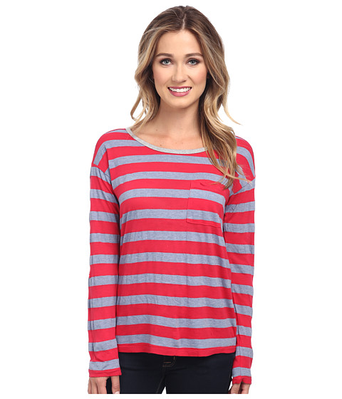 Splendid - Bridgewater Stripe Long Sleeve (Azalea) Women