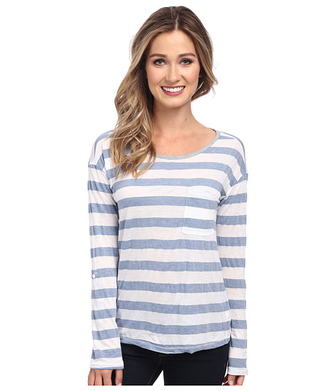 Splendid - Bridgewater Stripe Long Sleeve (White) Women's T Shirt