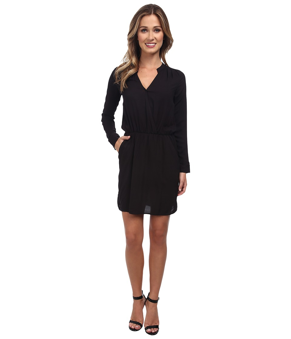 Splendid - Rayon Voile Dress (Black) Women's Dress