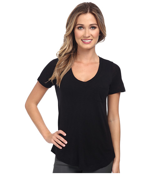 Splendid - Slub Tee (Black) Women's T Shirt