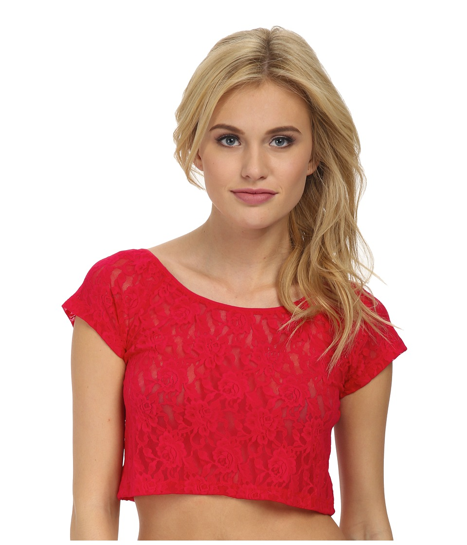 Hanky Panky - Signature Lace Crop Top (Strawberry) Women's Underwear