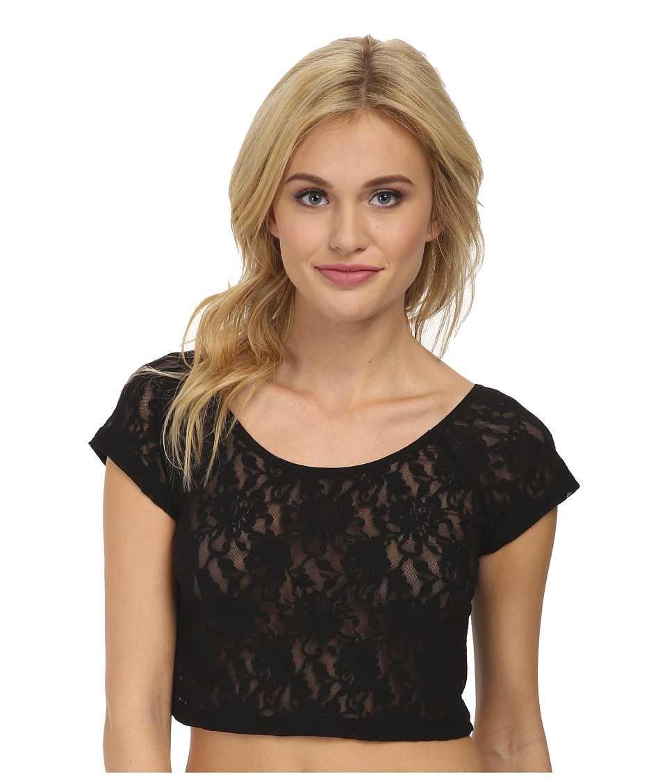 Hanky Panky - Signature Lace Crop Top (Black) Women's Underwear