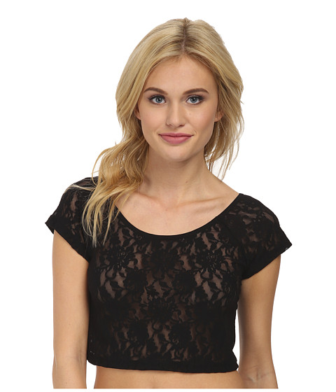 Hanky Panky - Signature Lace Crop Top (Black) Women