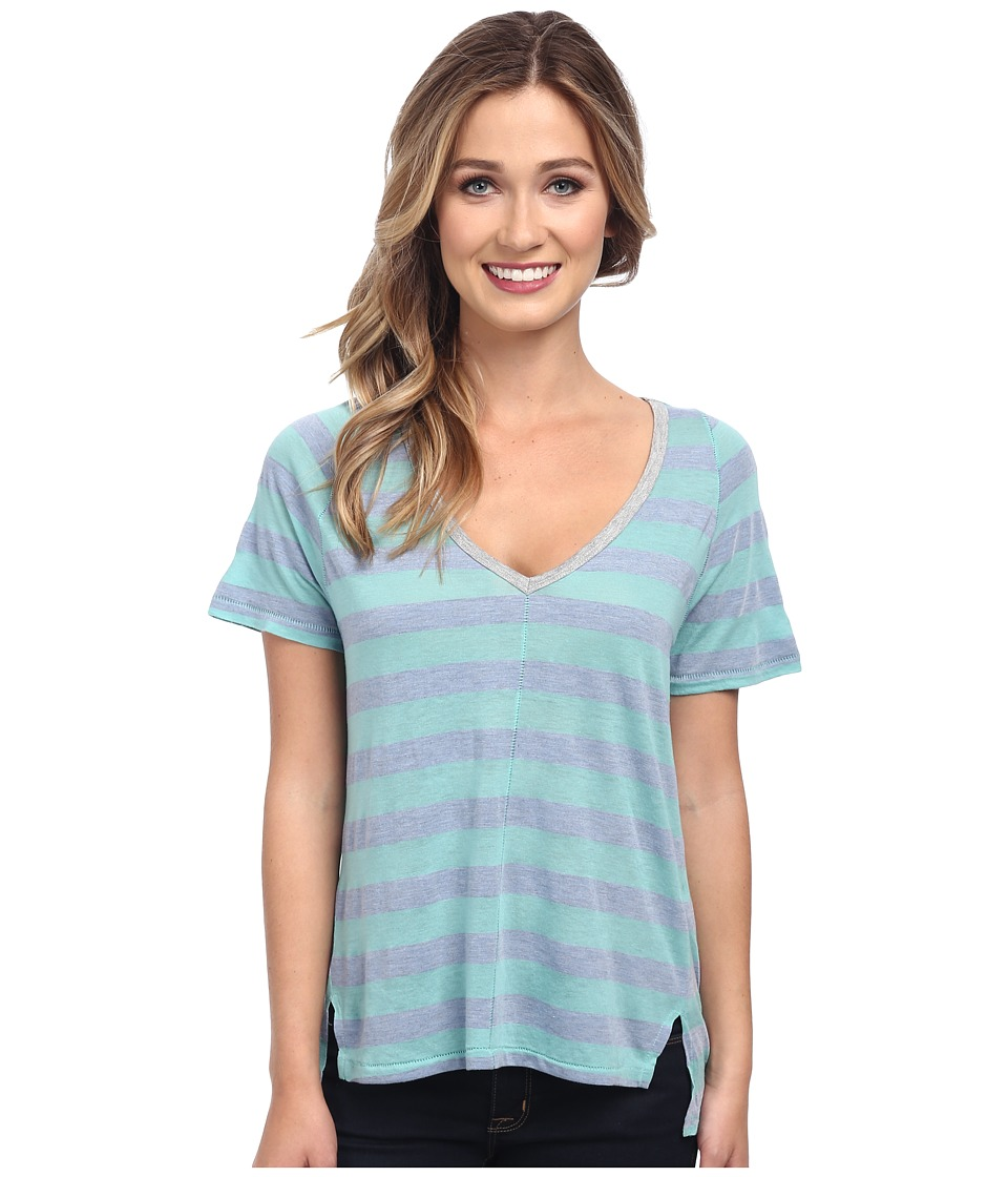 Splendid - Bridgewater Stripe Tee (Aqua) Women