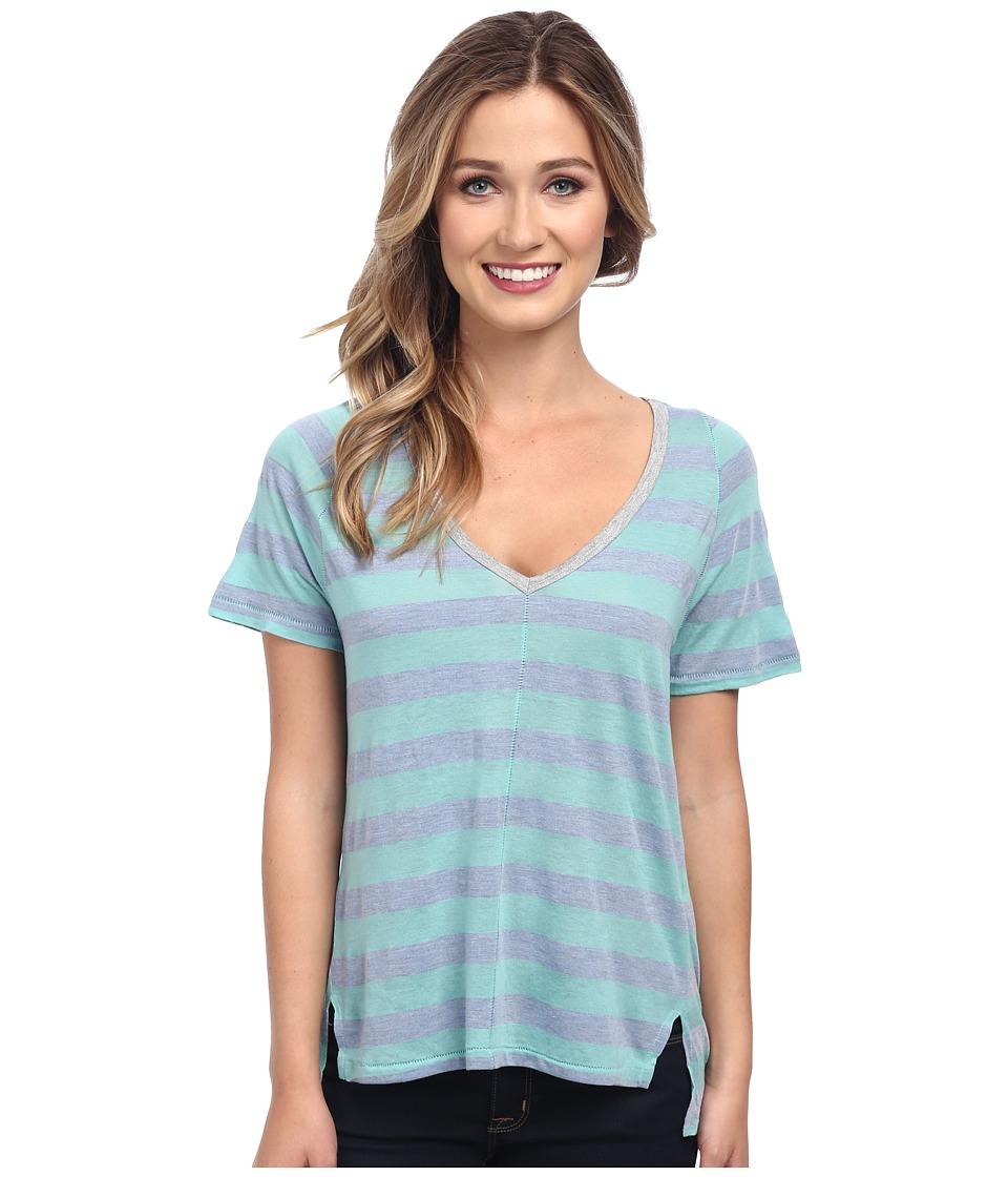Splendid - Bridgewater Stripe Tee (Aqua) Women's T Shirt