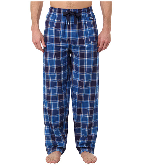 Jockey - Woven Pants (Navy/Blue/White) Men's Pajama