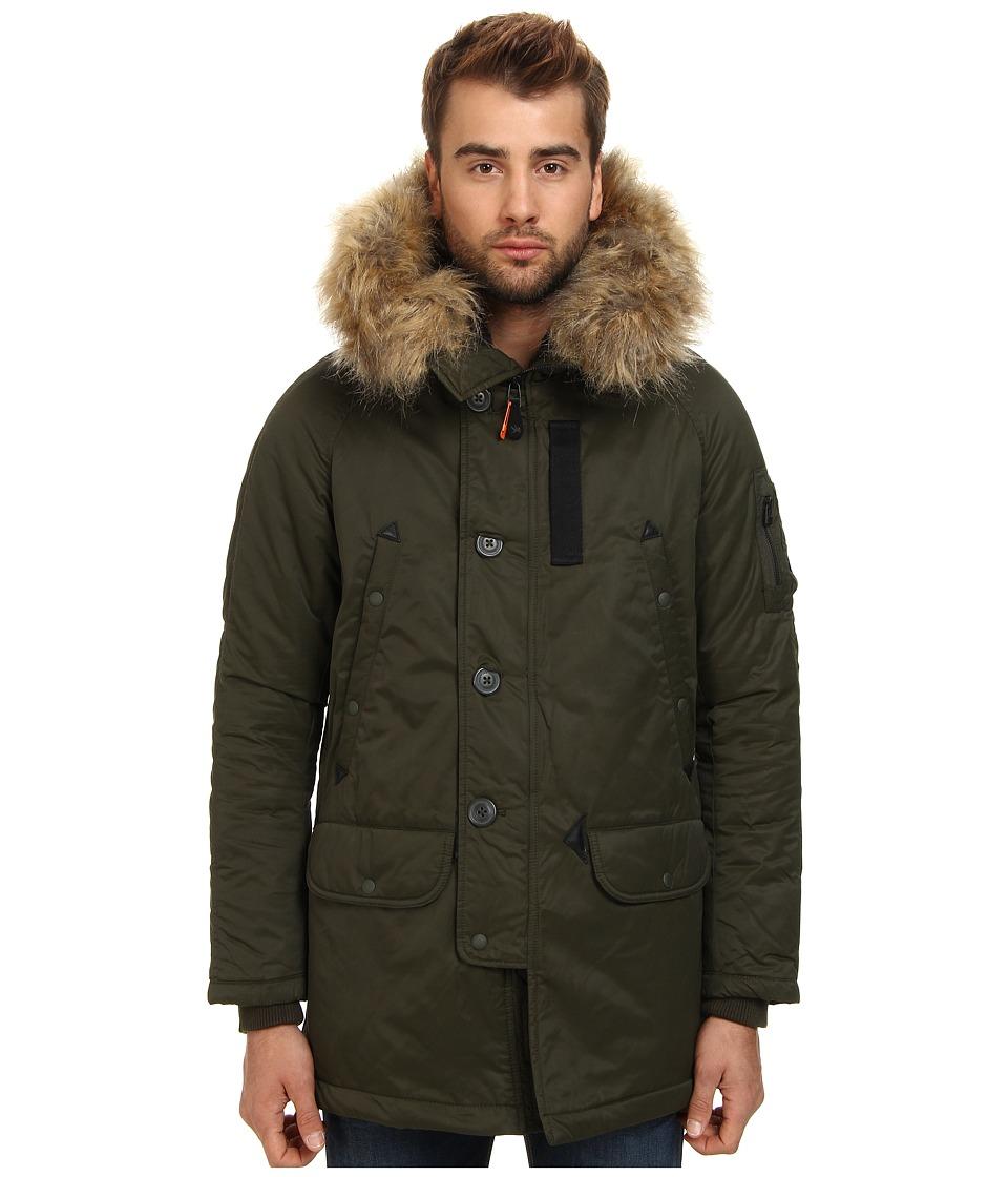 Spiewak - Waxed N3-B Snorkle Parka FF (Andrea Olive) Men's Coat