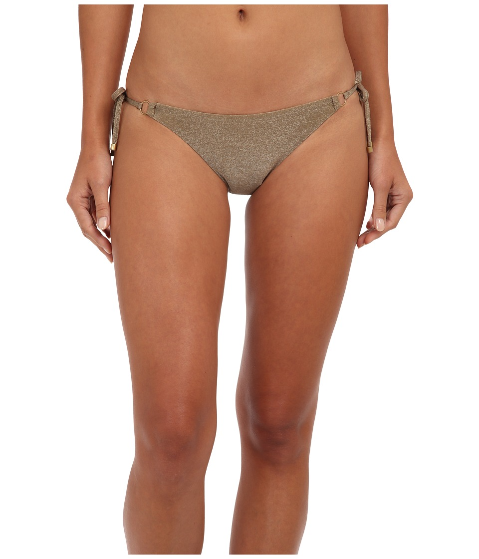 Vitamin A Swimwear - Celebrity String Bottom (Bronze Metallic) Women's Swimwear