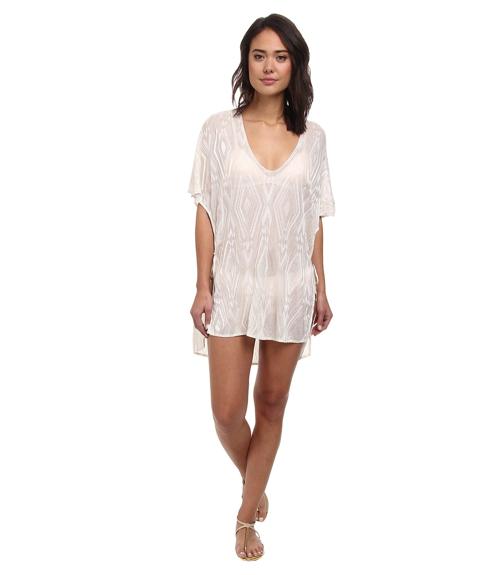 Vitamin A Swimwear - II Pelicano Poncho Cover-Up (Zurina Diamond Crochet) Women's Swimwear