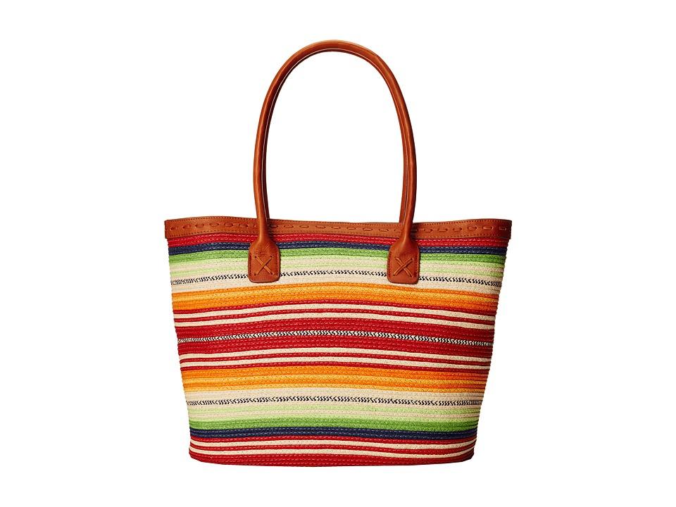 Pendleton - Straw Tote (Casa Grande Stripe Multi) Tote Handbags