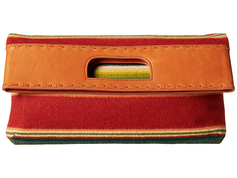 Pendleton - Oversized Clutch (Casa Grande Stripe Cardinal) Clutch Handbags