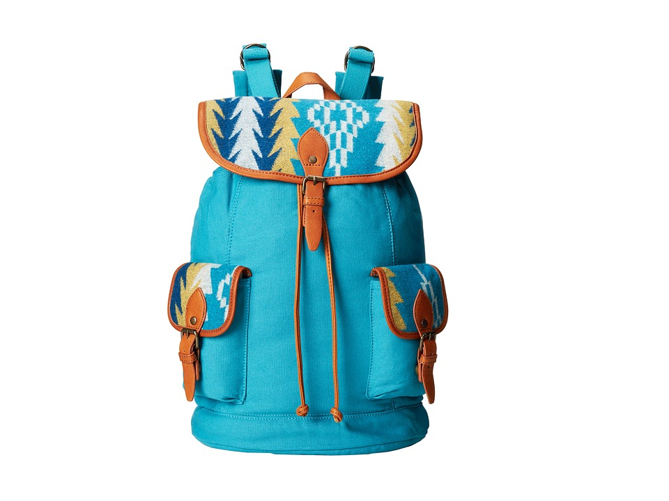 Pendleton - Canvas Rucksack (Sunset Pass Turquoise) Backpack Bags