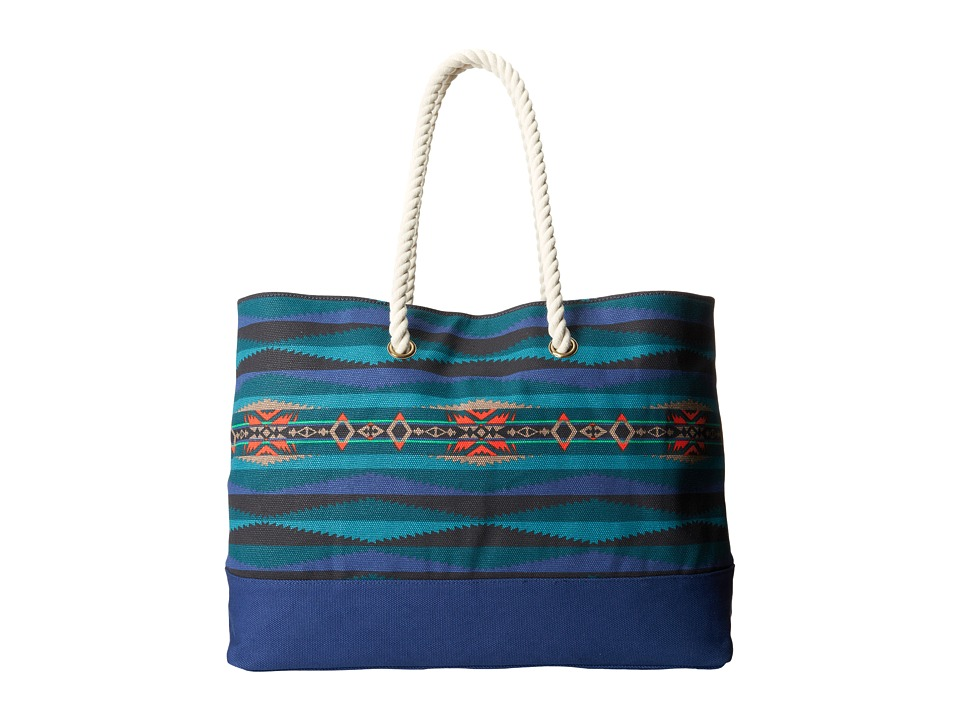 Pendleton - Printed Canvas Tote (Aegean) Tote Handbags