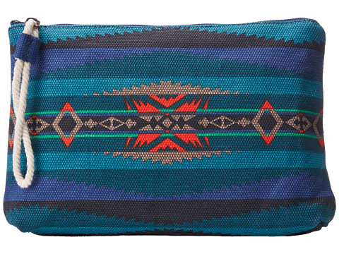 Pendleton - Printed Canvas Zip Pouch (Aegean) Wallet