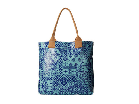 Pendleton - Coated Canvas Tote (Pendleton Bandana Canal Blue) Tote Handbags