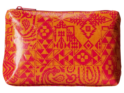 Pendleton - Coated Canvas Cosmetic Case (Pendleton Bandana Coral) Cosmetic Case