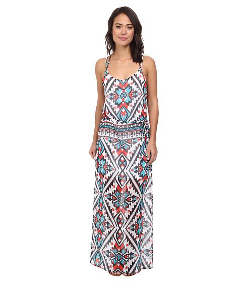 BECCA by Rebecca Virtue - Aztec Chiffon Wrap Belt Dress Cover-Up (Multi) Women