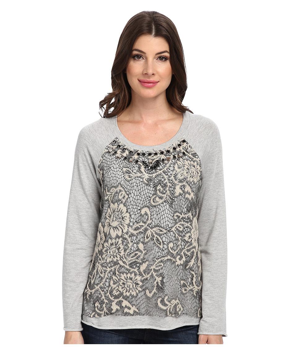 Hale Bob - Uptown Lace Sweatshirt (Taupe) Women's Sweater