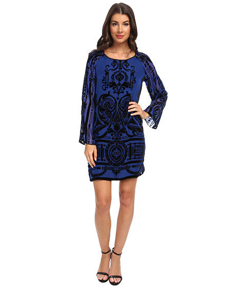Hale Bob - Winter Romance L/S Dress (Blue) Women's Dress