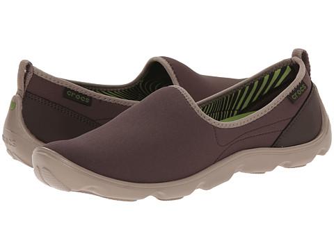 Crocs - Duet Busy Day Skimmer (Espresso/Mushroom) Women's Slip on Shoes