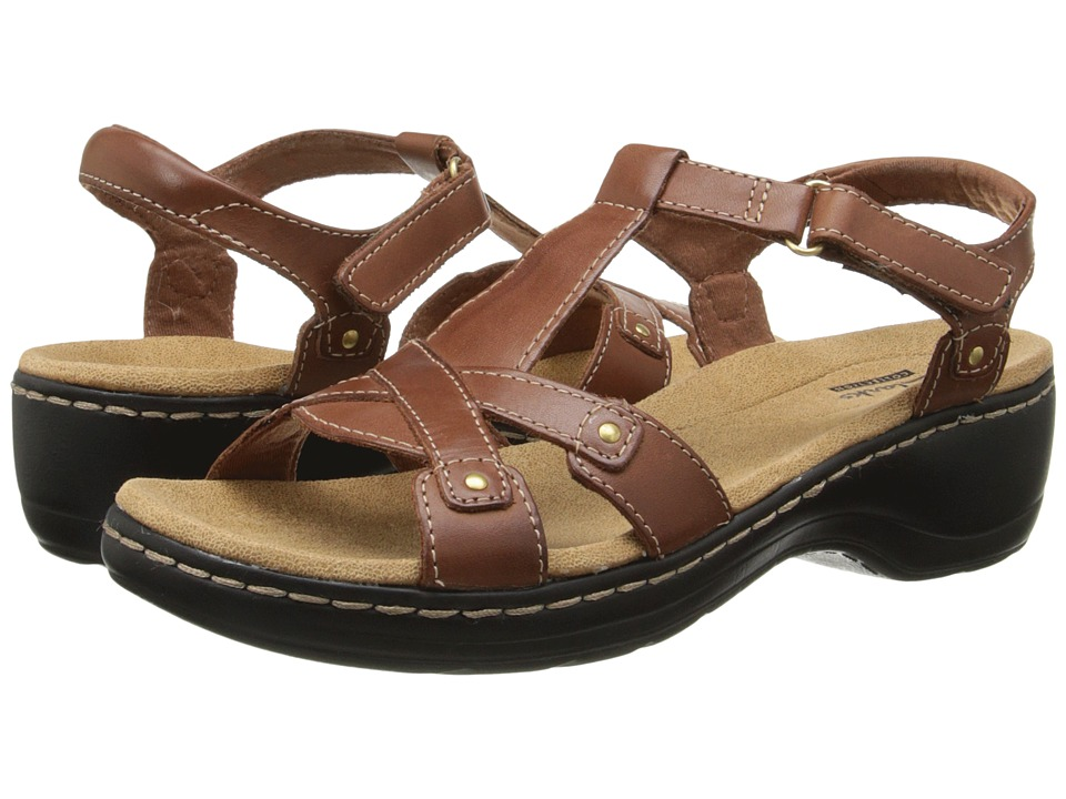 Clarks - Hayla Flute (Tan Leather) Women's Sandals