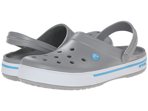 Crocs - Crocband II.5 Clog (Light Grey/Electric Blue) Shoes