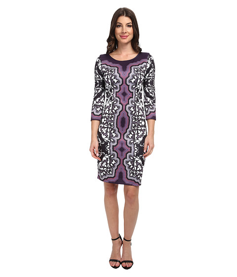 Hale Bob - Exotic Romance Neoprene Dress (Purple) Women