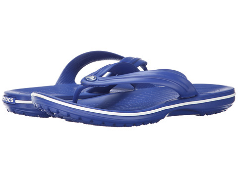 Crocs - Crocband Flip (Cerulean Blue/White) Slide Shoes