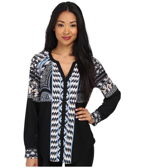 Hale Bob - Exotic Lines L/S Top (Black) Women's Clothing