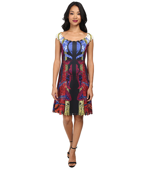 Hale Bob - Digital Memory Fit and Flare Dress (Berry) Women