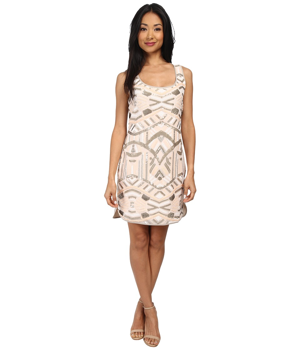 Hale Bob - Haute Holiday Sequin Dress (Ivory) Women's Dress
