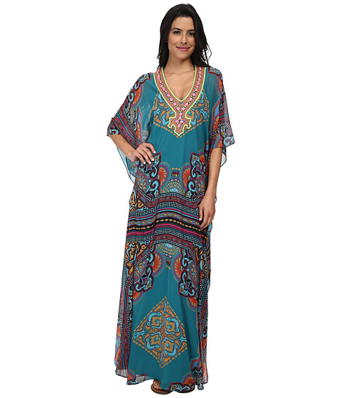 Hale Bob - Caftan (Teal) Women's Dress