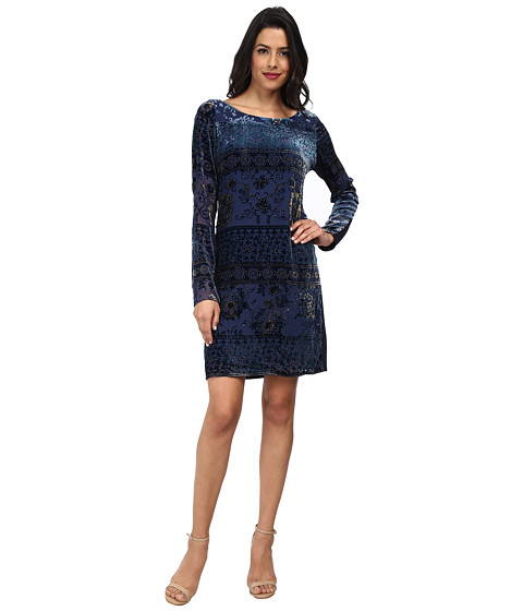 Hale Bob - Winter Bouquet Burnout Dress (Navy) Women's Dress