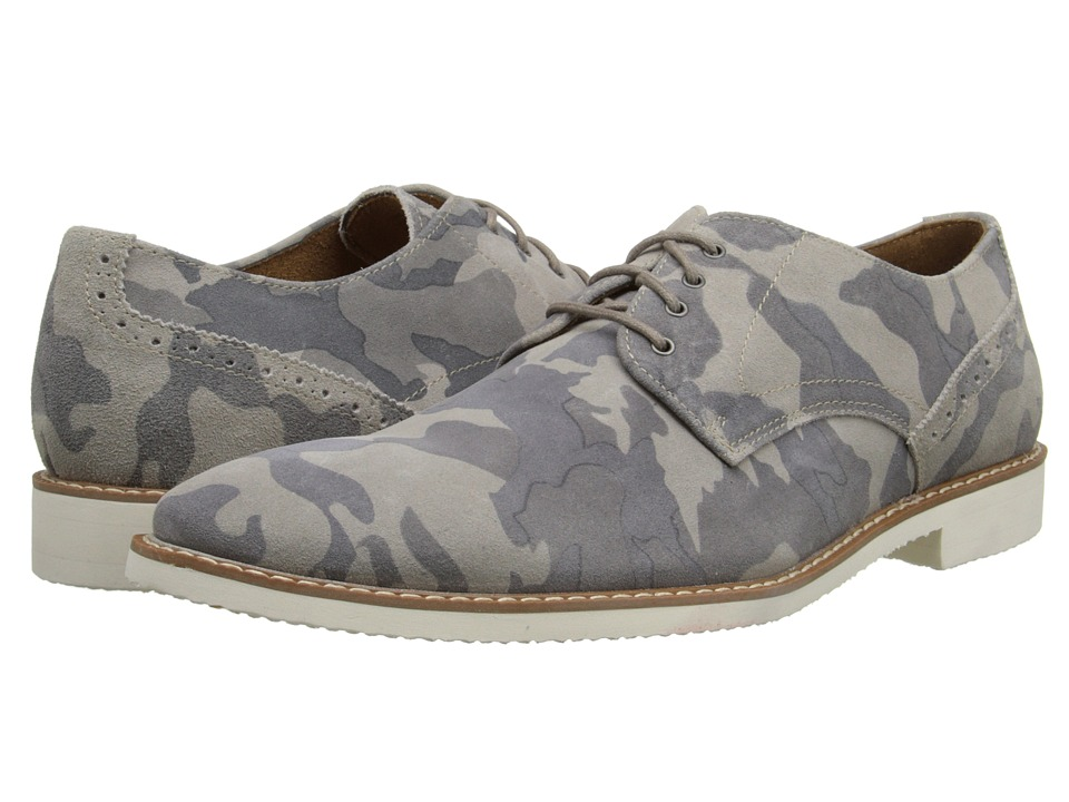 Stacy Adams - Sumner (Gray Camouflage Printed Suede) Men's Plain Toe Shoes